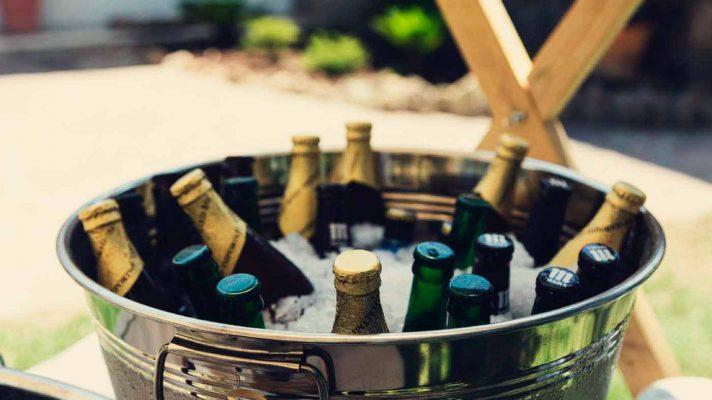 cubo de cervezas frias